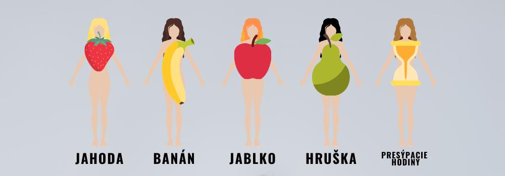 Ženské typy postavy na základe tvaru ovocia
