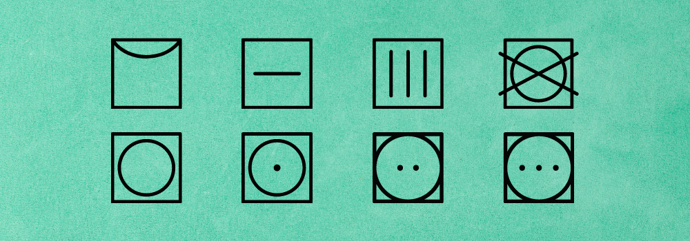 Symboly sušenia na oblečení
