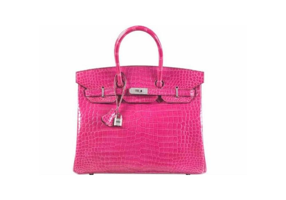 Kabelka Hermès Birkin Fuchsia Diamond-Studded