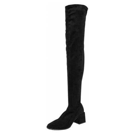 EDITED Čižmy nad koleno 'Brea'  čierna