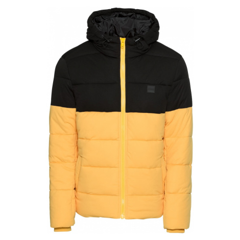 Urban Classics Zimná bunda  žltá / čierna