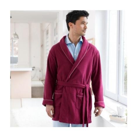 Blancheporte Domáci kabát z polar fleecu bordó