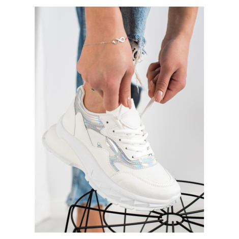 SWEET SHOES STYLISH WHITE SNEAKERS