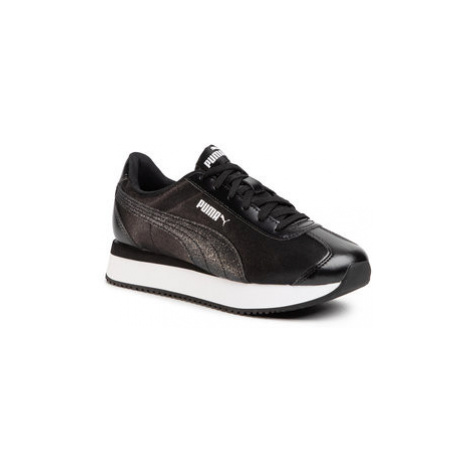Puma Sneakersy Turino Stacked Glitter 371944 04 Čierna