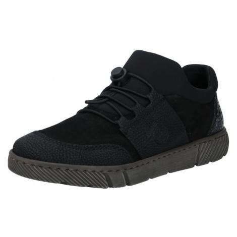RIEKER Šnurovacie topánky  čierna