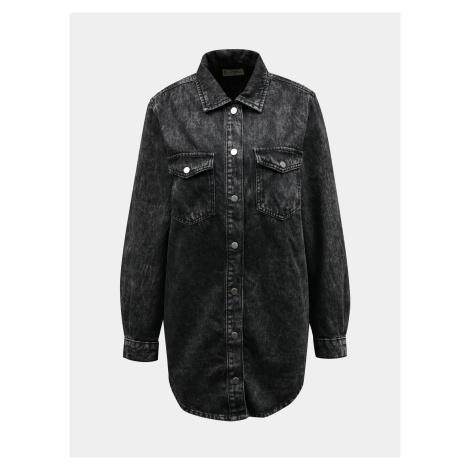Tmavo šedá džínsová dlhá košeľa TALLY WEiJL