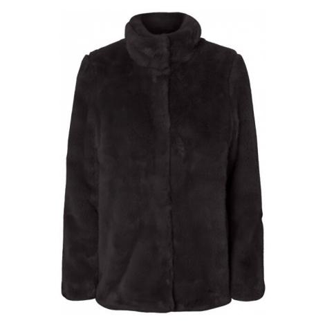 Vero Moda Dámsky kabát VMMINK faux FUR JACKET Black