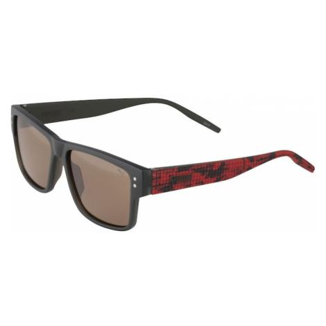 PUMA Slnečné okuliare  červená / tmavosivá / grafitová