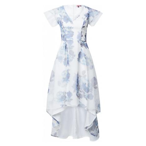 Chi Chi London Kokteilové šaty 'Destry'  svetlomodrá / biela / fialová