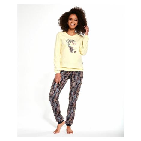 Dámske pyžamo Cornette 671/259 Elephants LL Žlutá