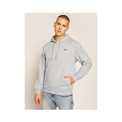Lacoste Mikina SH1527 Sivá Loose Fit