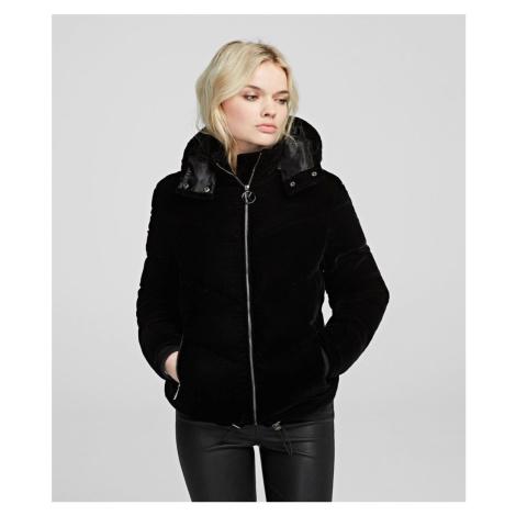 Bunda Karl Lagerfeld Velvet Down Jacket W/ Hood