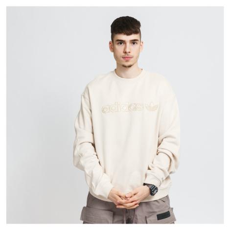adidas Originals Embroidered Crew Sweatshirt béžová