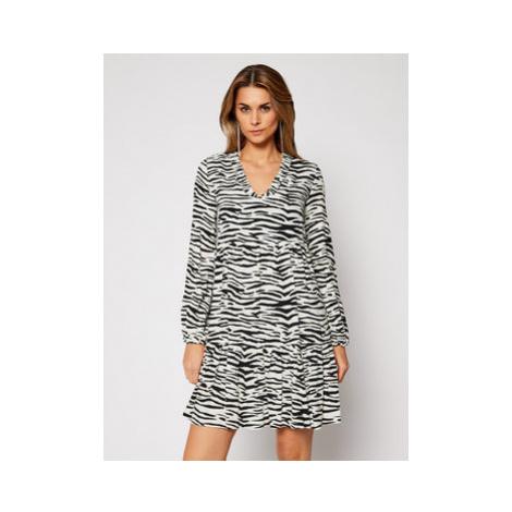Pinko Každodenné šaty Zebra 20202 PRR 1N133V 8495 Biela Regular Fit