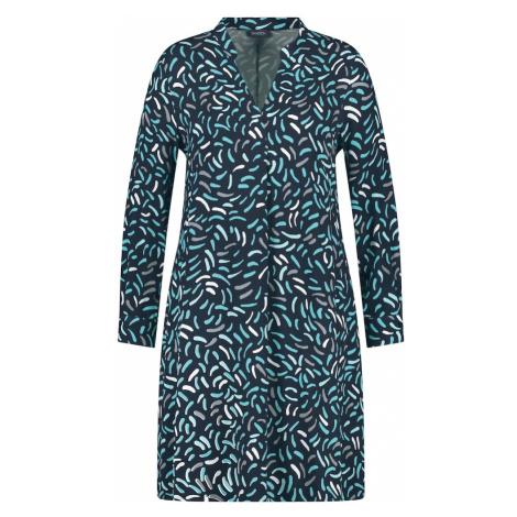 SAMOON Košeľové šaty 'Kopenhagen'  námornícka modrá / tyrkysová / biela