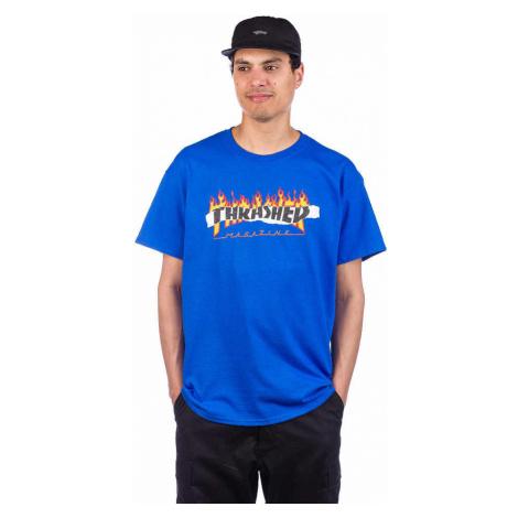 Pánske tričko THRASHER RIPPED TEE ROYAL BLUE Farba: Modrá
