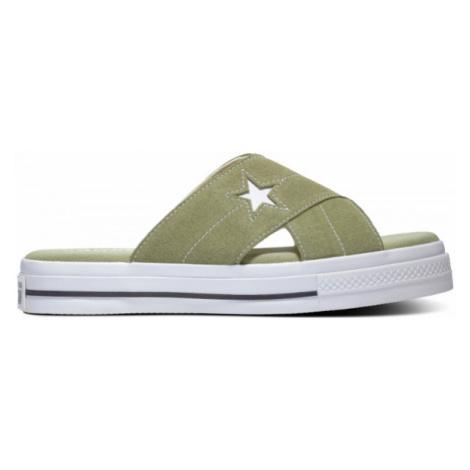 Converse ONE STAR SANDAL zelená - Dámske šľapky