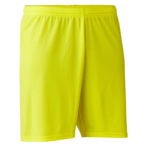 KIPSTA Futbalové šortky pre dospelých F100 žlté ŽLTÁ M