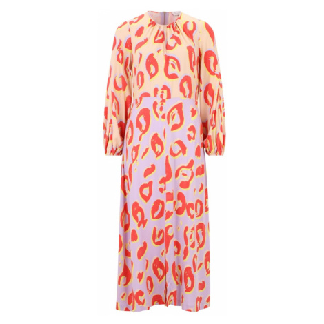 Closet London Šaty  marhuľová / fialová / svetločervená / žltá