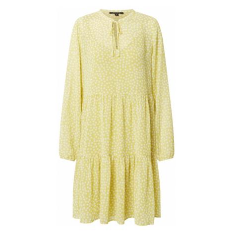COMMA Košeľové šaty  žltá / biela