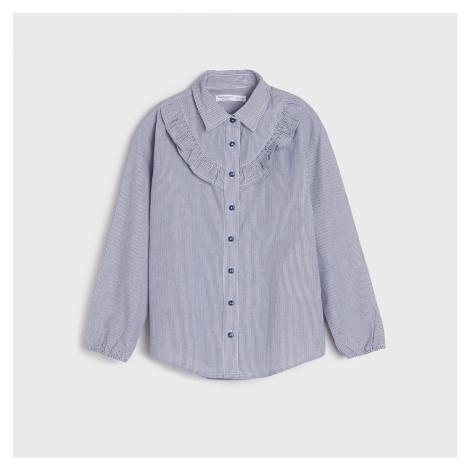 Sinsay - Košeľa s volánom - Tmavomodrá