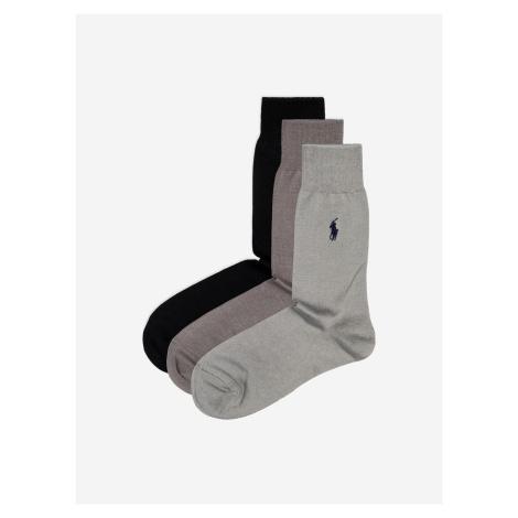Ponožky 3 páry Polo Ralph Lauren Čierna