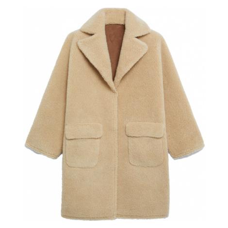 MANGO Zimný kabát 'STAY'  hnedá / béžová