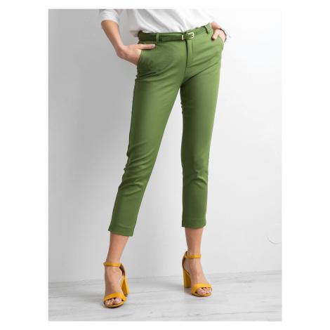 Zelené 7/8 elegantné nohavice