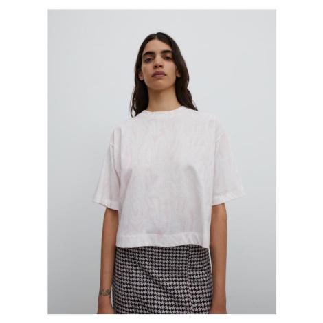 EDITED Tričko 'Sila'  biela / ružová