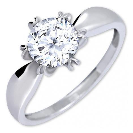 Brilio Silver Výrazný zásnubný prsteň 001 04 mm