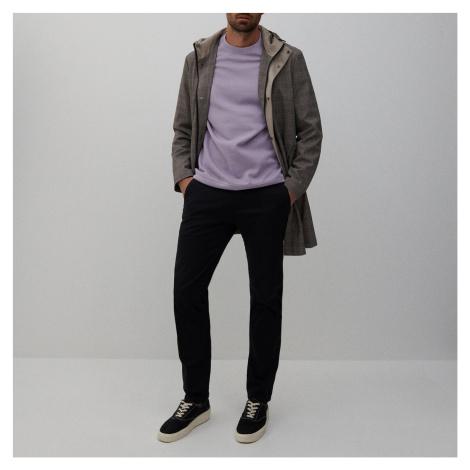 Reserved - Chino nohavice slim zo štruktúrovanej látky - Čierna