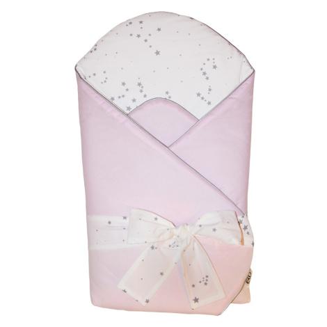 EKO Zavinovačka bavlnená s potlačou a kokosovým vnútrom Light Pink