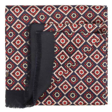 Granátovo-červený pánsky hodvábny šál Wittchen