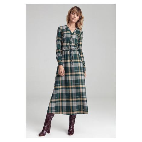 Zelené kárované šaty CS45 Colett