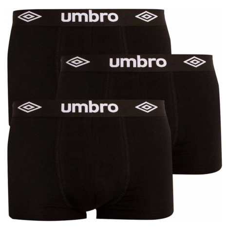 3PACK men's boxers Umbro black