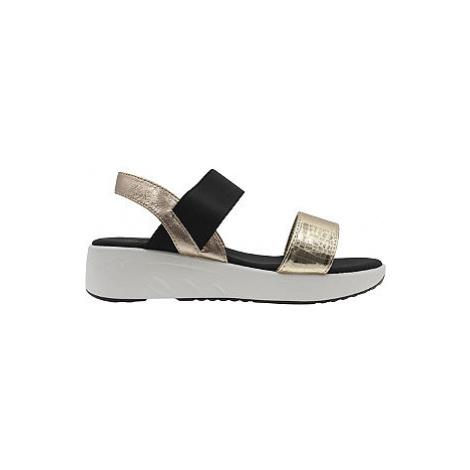 Čierno-zlaté sandále na platforme Claudia Ghizzani