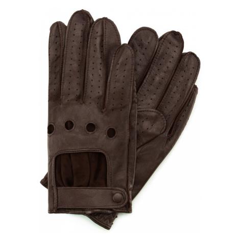 Hnedé kožené rukavice Wittchen