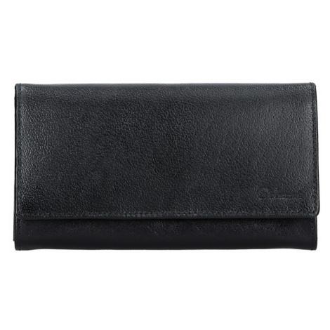 Dámska kožená peňaženka Diviley Tinna - čierna