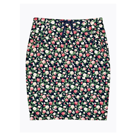 GATE Puzdrová sukňa s kvetinovou potlačou