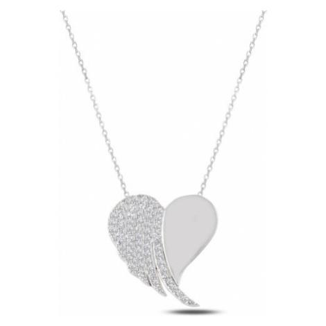 OLIVIE Strieborný náhrdelník SRDCE 2339