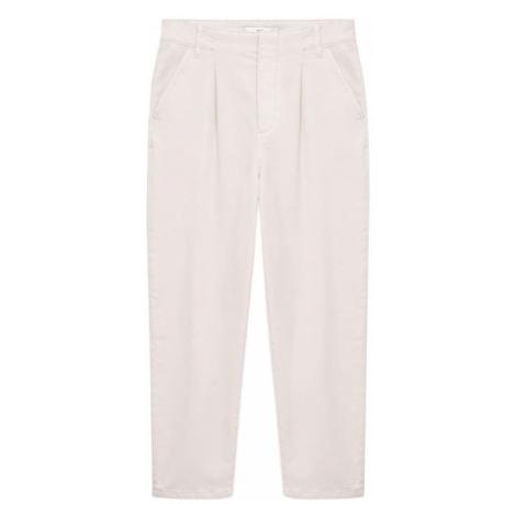 MANGO Plisované nohavice  telová