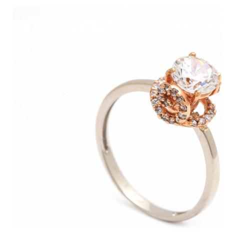 Zlatý zásnubný prsteň OTTAVIA