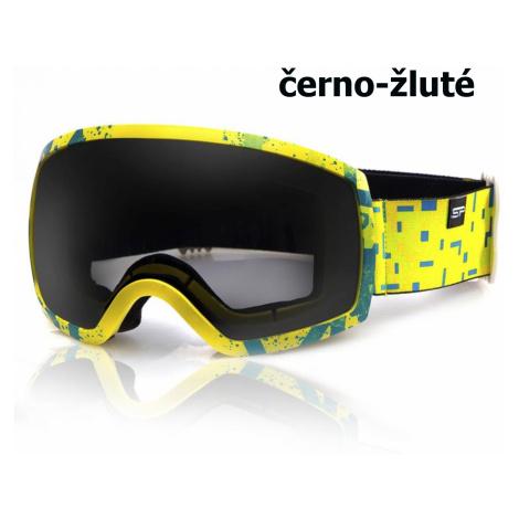 Lyžiarske okuliare SPOKEY Radium - čierno-žlté