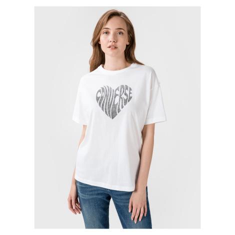 Heart Reverse Triko Converse Biela