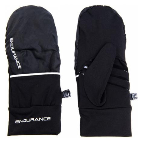 Bežecké Rukavice Endurance Silverton Mittens Čierne