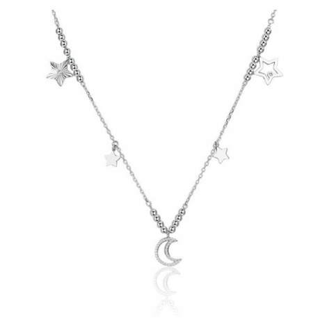 Brosway Roztomilý náhrdelník s príveskami Chant BAH07