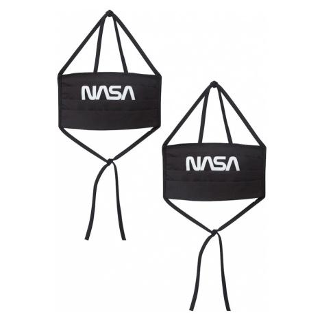 Mister Tee Látkové rúško 'NASA'  čierna