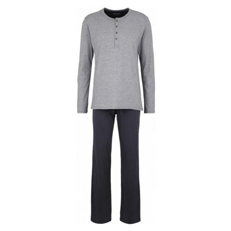 SCHIESSER Dlhé pyžamo  sivá / antracitová