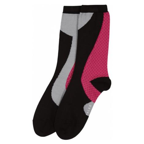 FALKE Ponožky 'Grafic Jam SO'  pitaya / čierna / sivá