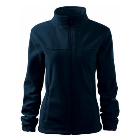 Dámska bunda fleecová, tmavomodrá